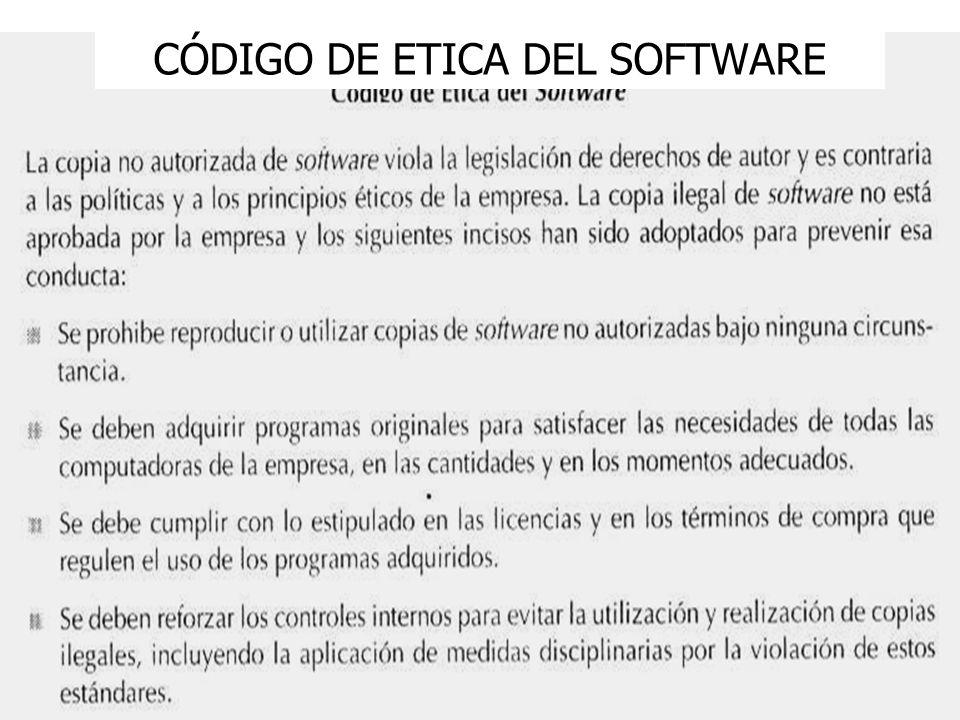 6 CÓDIGO DE ETICA DEL SOFTWARE