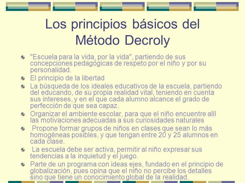 Los principios básicos del Método Decroly