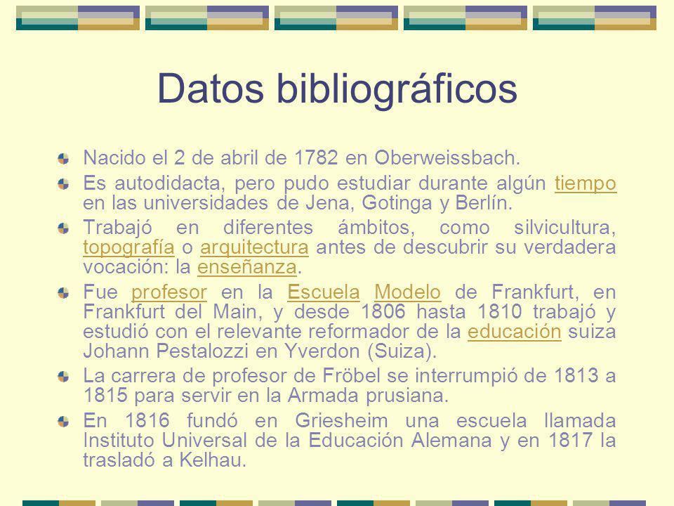 Datos bibliográficos Nacido el 2 de abril de 1782 en Oberweissbach. Es autodidacta, pero pudo estudiar durante algún tiempo en las universidades de Je