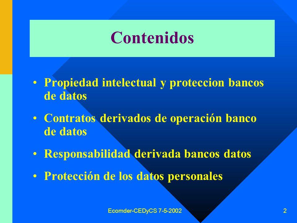 Régimen jurídico de los bancos de datos. Ley 25.326 Eduardo Molina Quiroga