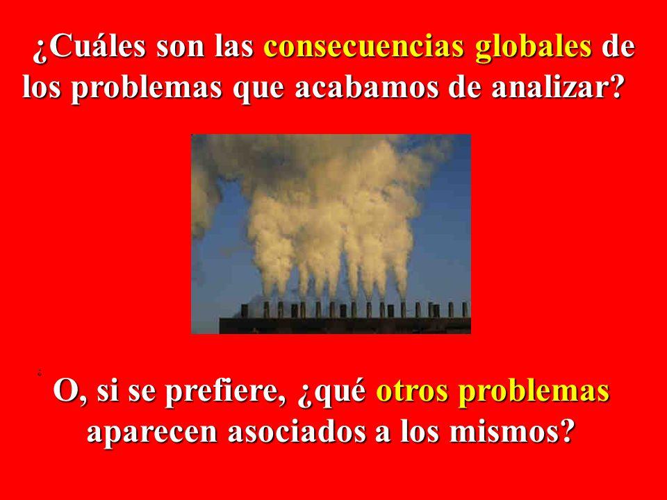 ¿Cuáles son las consecuencias globales de los problemas que acabamos de analizar? los problemas que acabamos de analizar? ¿ O, si se prefiere, ¿qué ot