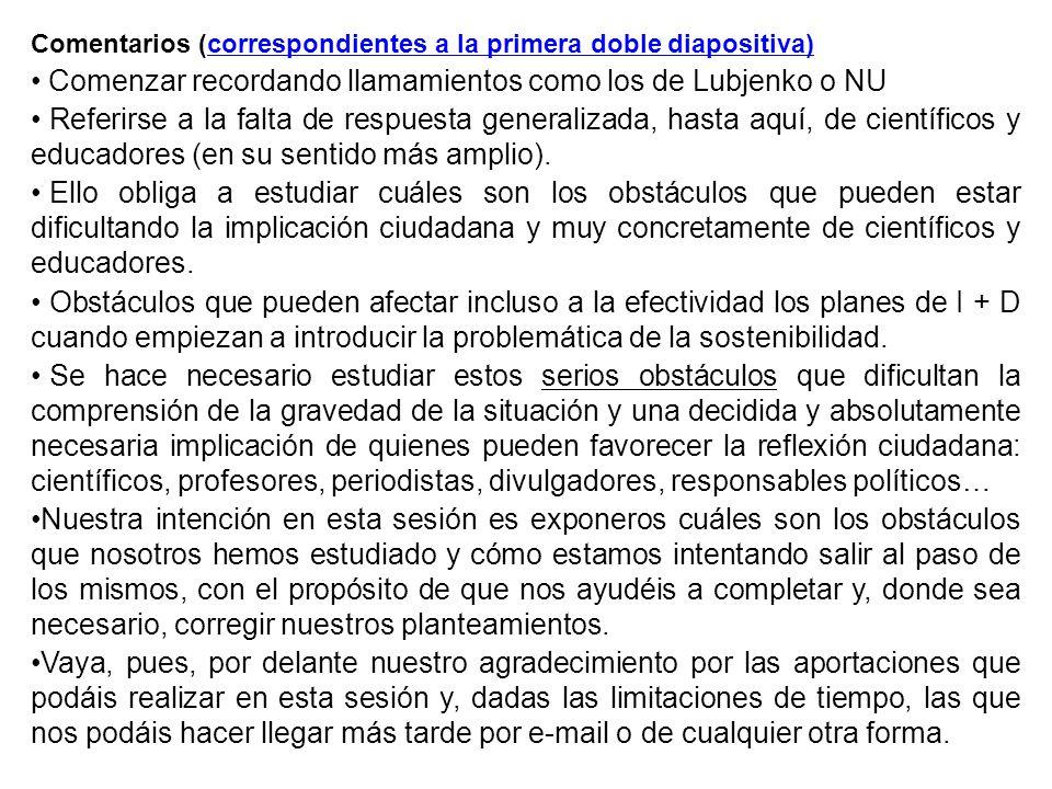Comentarios 43 y 44 Medidas políticas 43.