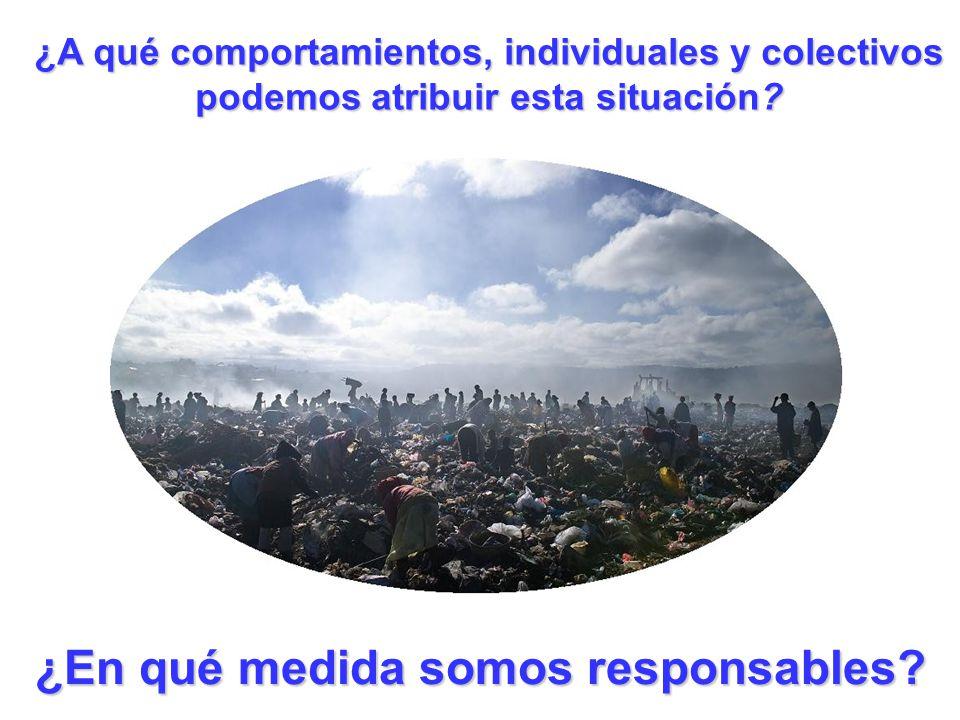 ¿A qué comportamientos, individuales y colectivos podemos atribuir esta situación? ¿En qué medida somos responsables?