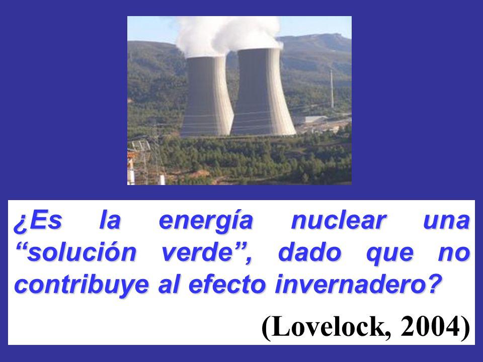 ¿Es la energía nuclear unasolución verde, dado que no contribuye al efecto invernadero? (Lovelock, 2004)