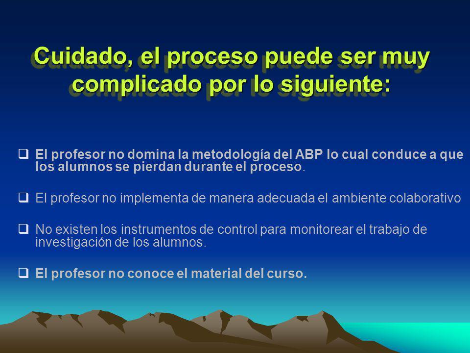 Un recurso muy importante para controlar, diagnosticar y evaluar el proceso del ABP es la rúbrica