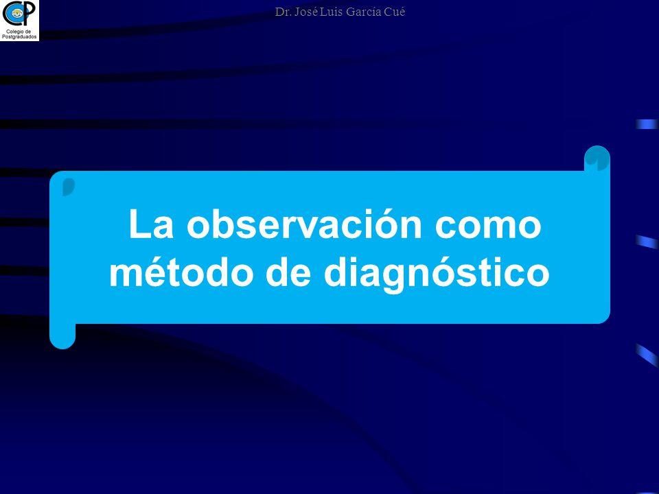 La observación como método de diagnóstico Dr. José Luis García Cué