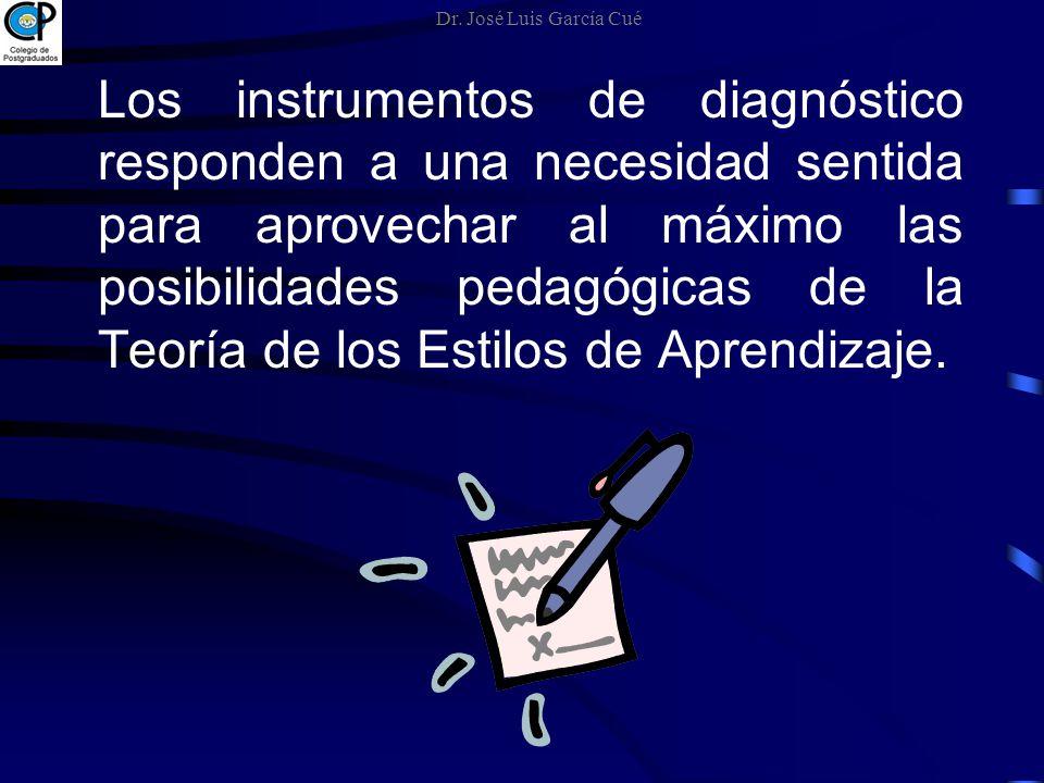 Los instrumentos de diagnóstico responden a una necesidad sentida para aprovechar al máximo las posibilidades pedagógicas de la Teoría de los Estilos