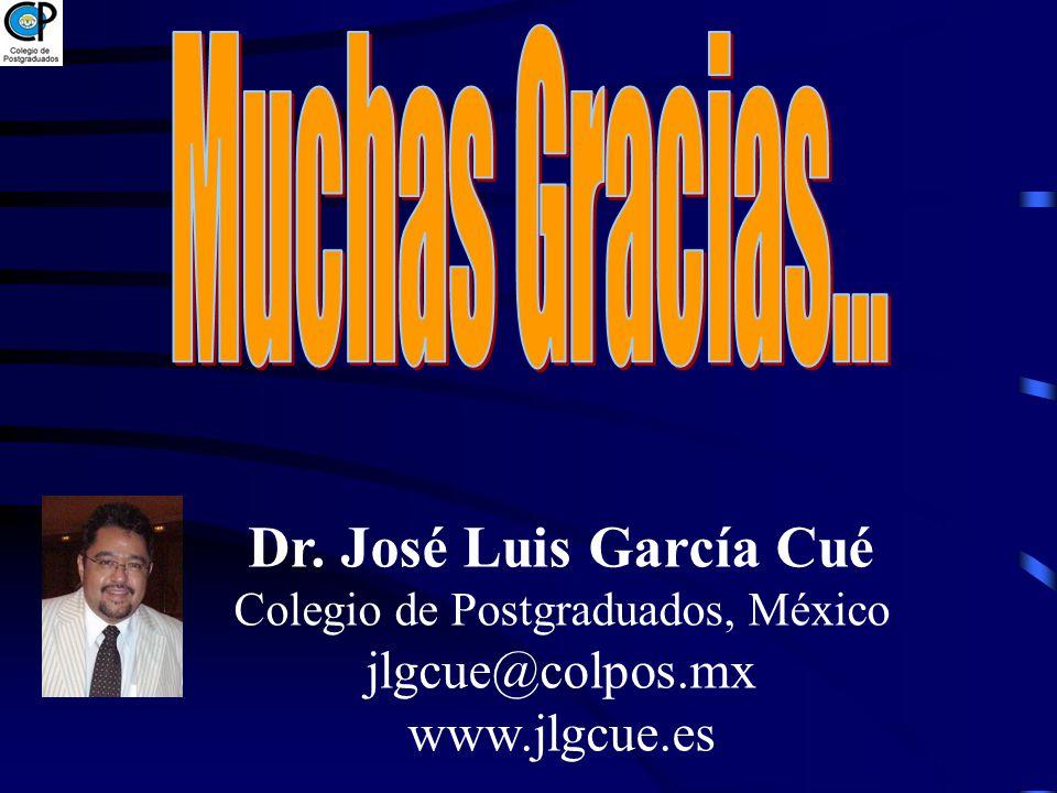 Colegio de Postgraduados, México jlgcue@colpos.mx www.jlgcue.es