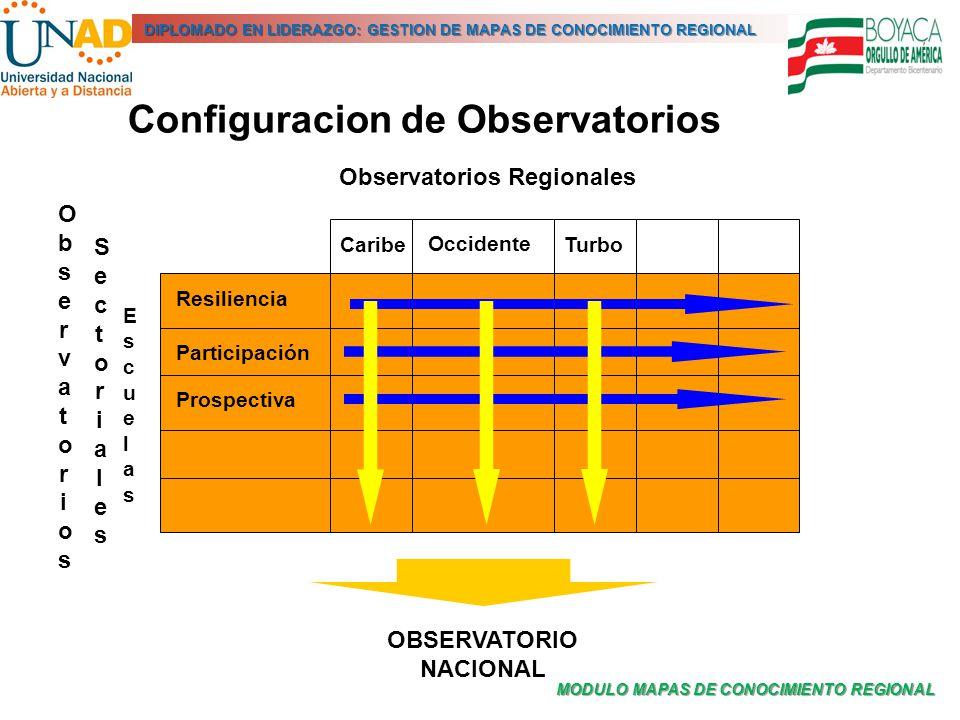 MODULO MAPAS DE CONOCIMIENTO REGIONAL DIPLOMADO EN LIDERAZGO: GESTION DE MAPAS DE CONOCIMIENTO REGIONAL Observatorios Regionales ObservatoriosObservat