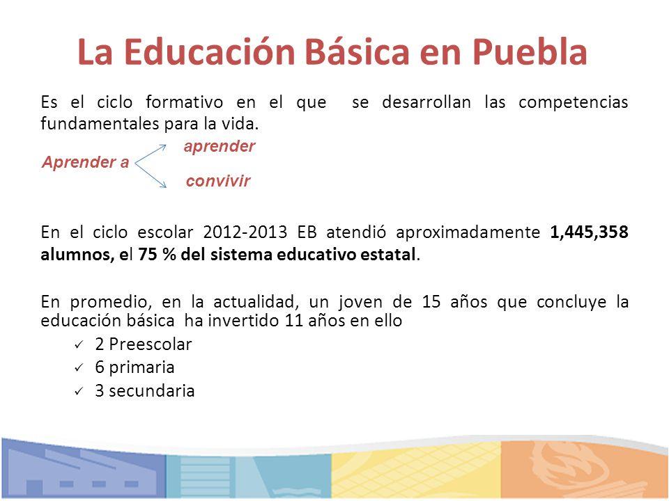 ... competencias fundamentales para la vida. En el ciclo escolar 2012-201
