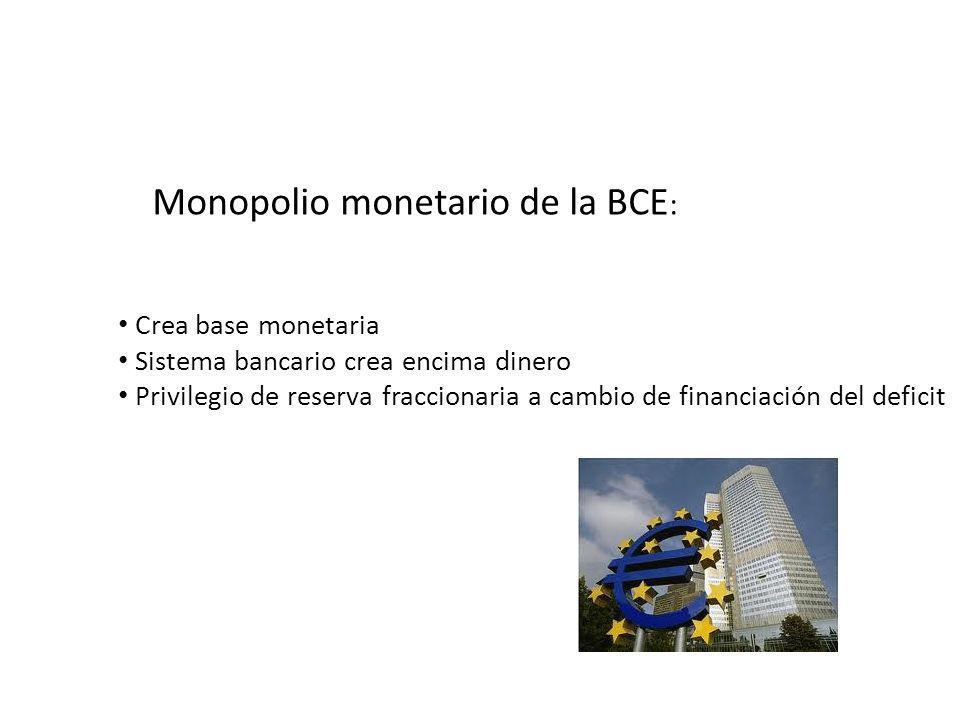 Como los bancos centrales operan FED: IDYC BCE: IDYP Manipular Masa monetaria