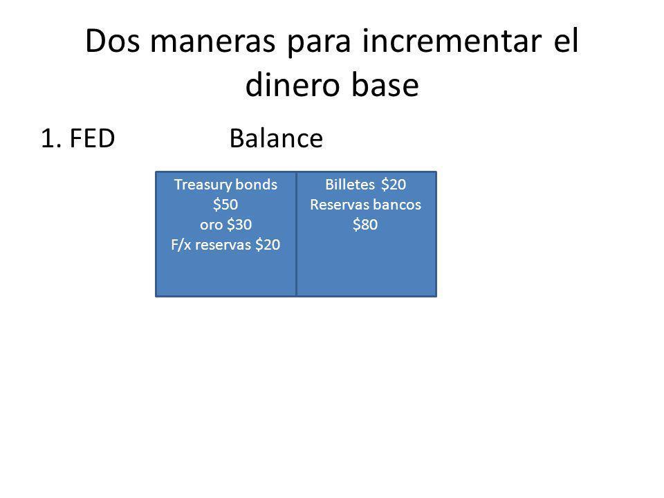 Dos maneras para incrementar el dinero base 1.