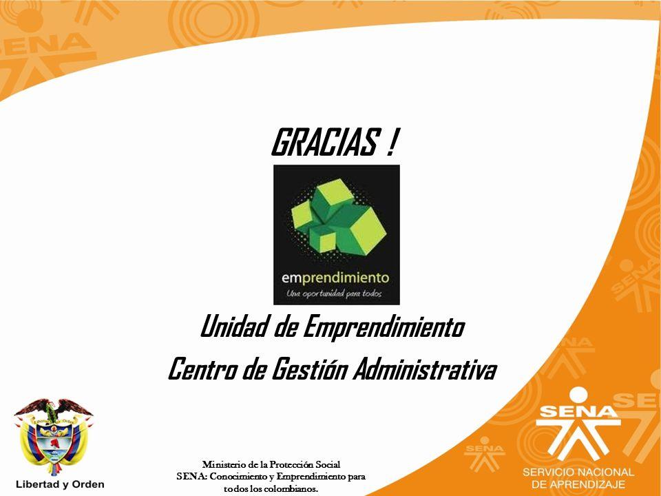 Ministerio de la Protección Social SENA: Conocimiento y Emprendimiento para todos los colombianos.