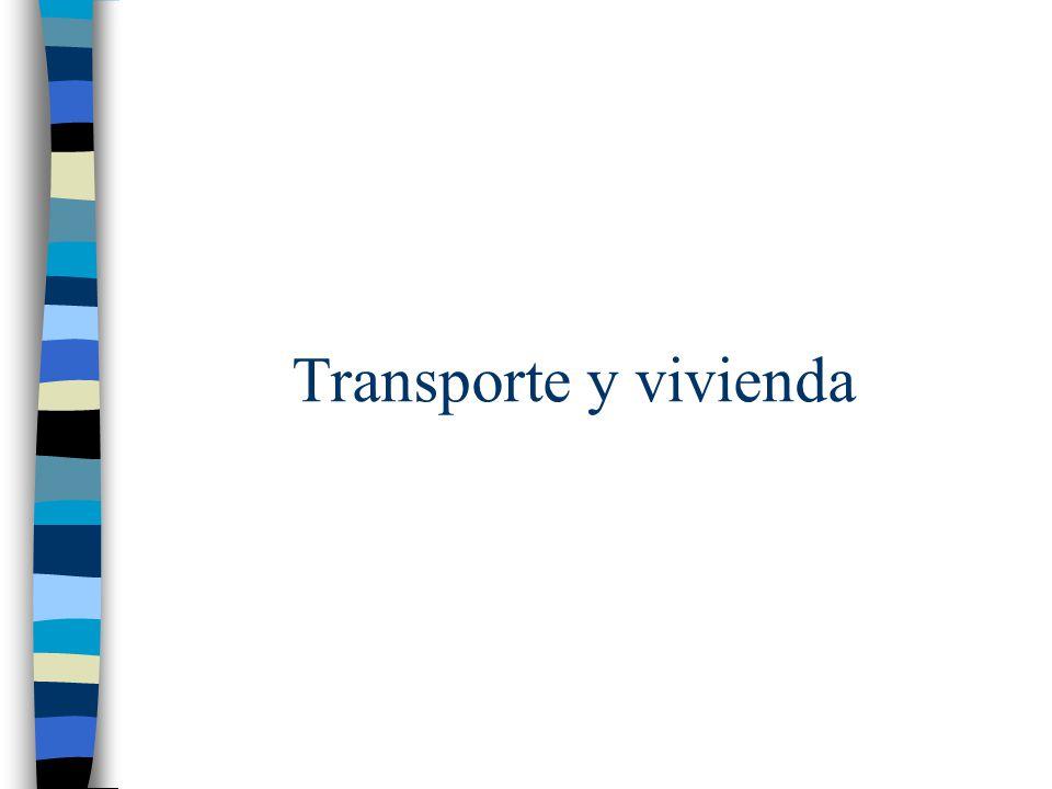 Transporte y vivienda