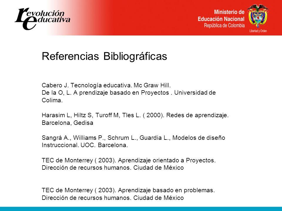 Referencias Bibliográficas Cabero J.Tecnología educativa.