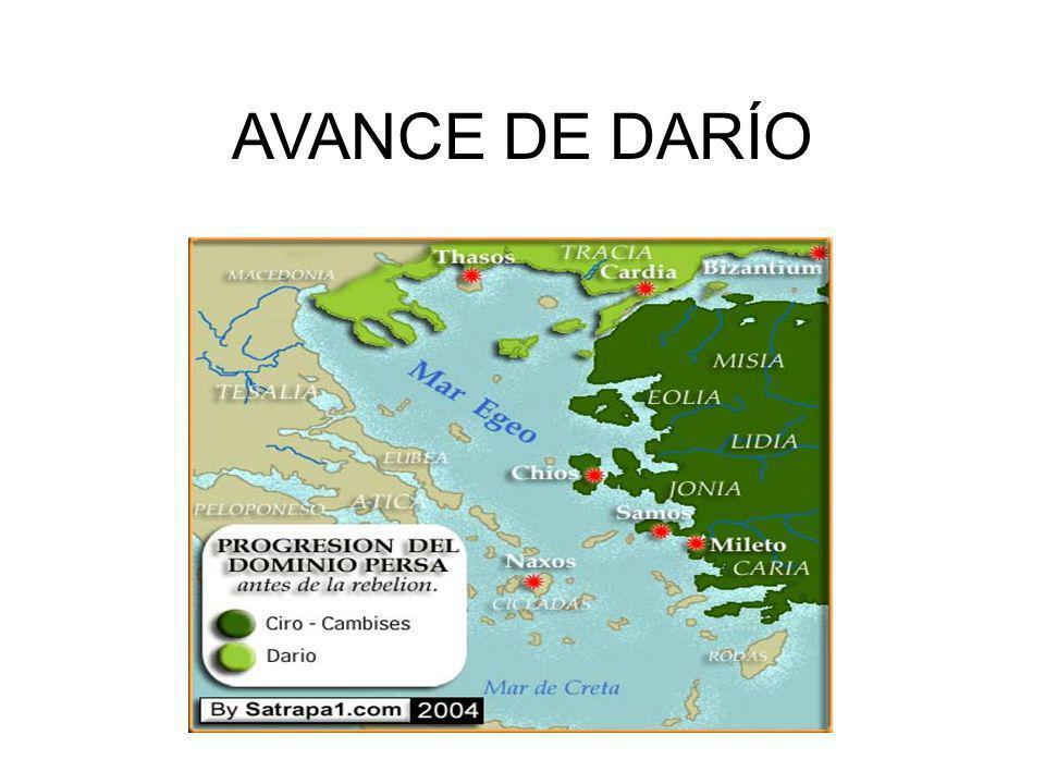AVANCE DE DARÍO