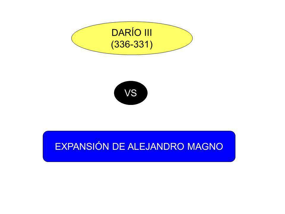 DARÍO III (336-331) VS EXPANSIÓN DE ALEJANDRO MAGNO