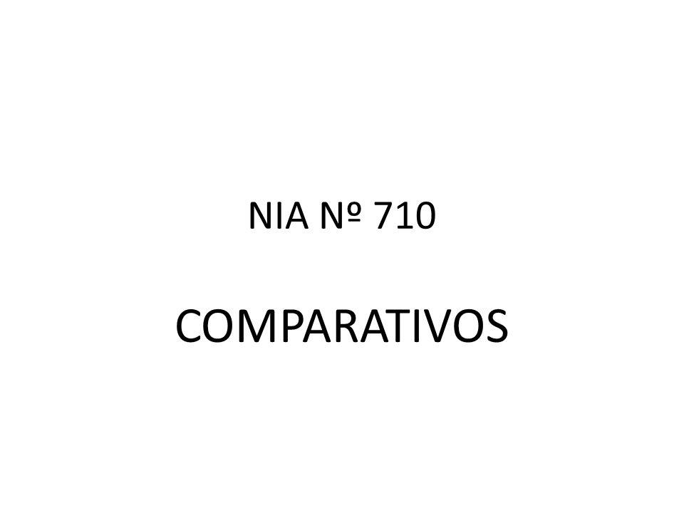 NIA Nº 710 COMPARATIVOS