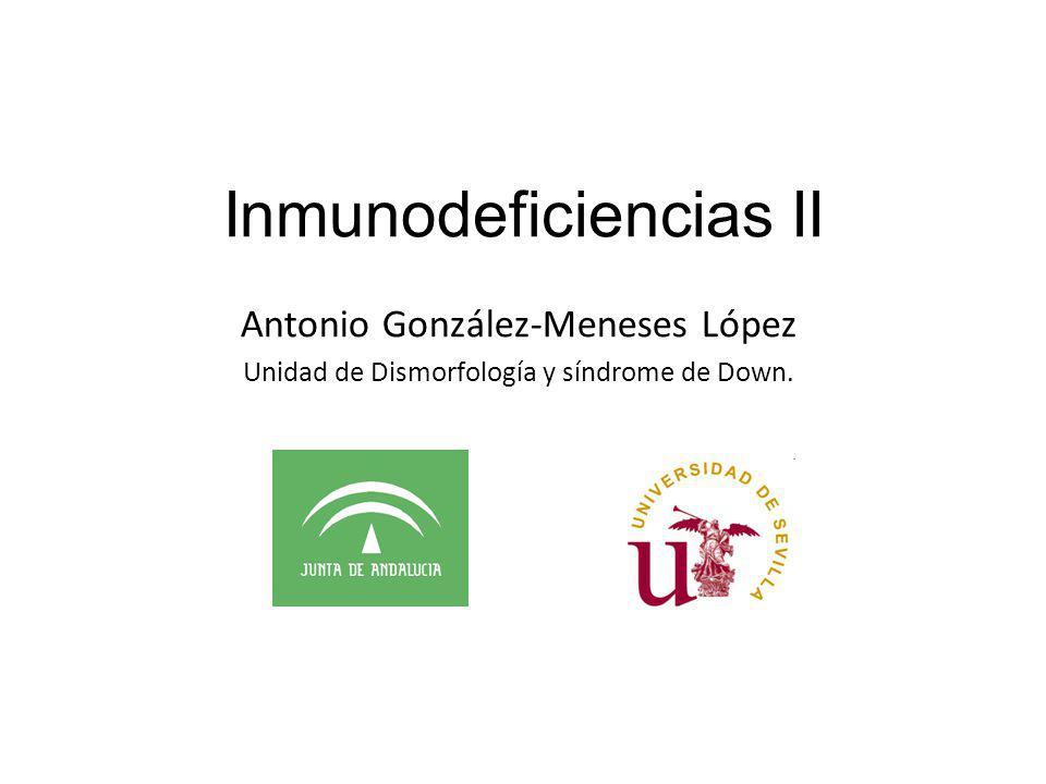 Inmunodeficiencias II Antonio González-Meneses López Unidad de Dismorfología y síndrome de Down.