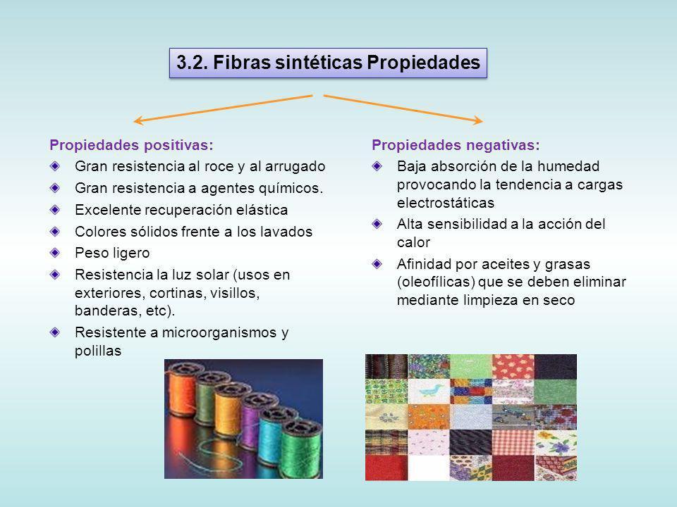 Propiedades positivas: Gran resistencia al roce y al arrugado Gran resistencia a agentes químicos.
