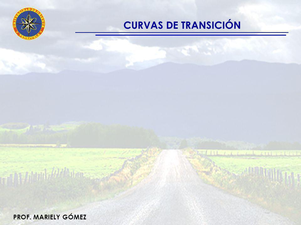 PROF.MARIELY GÓMEZ CURVAS DE TRANSICIÓN Curvas que cumplen: -.