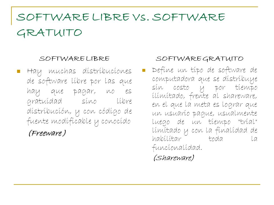 SOFTWARE LIBRE Vs.