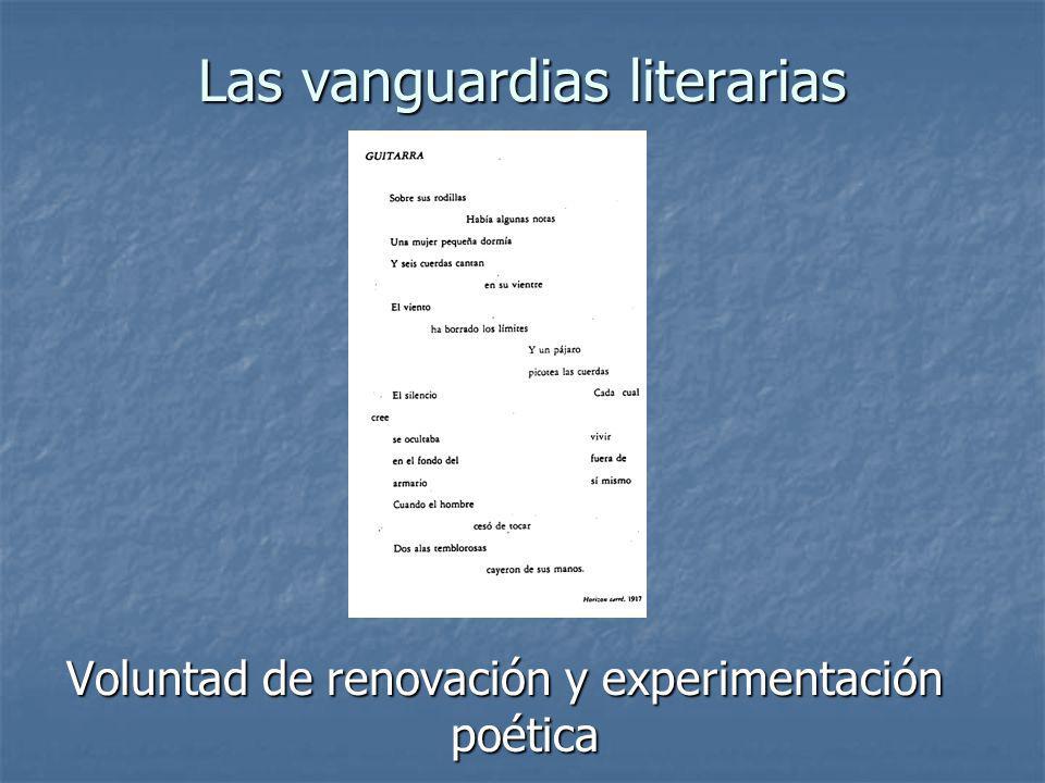 Las vanguardias literarias Voluntad de renovación y experimentación poética