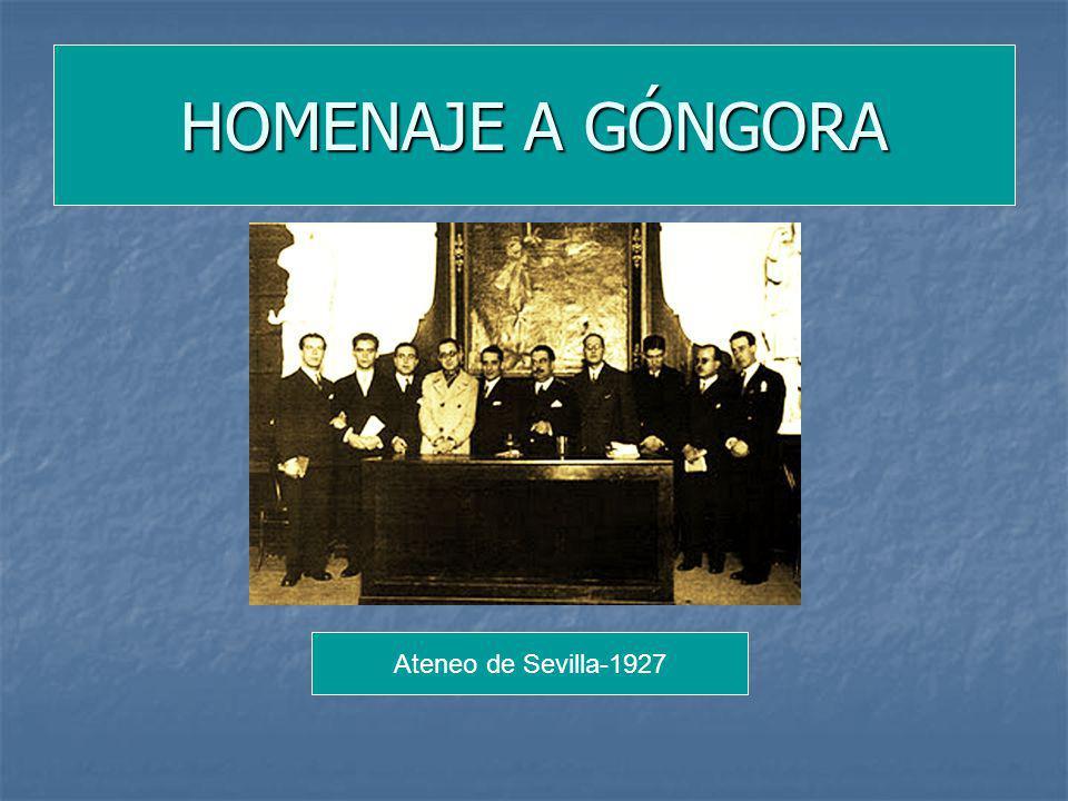 Ateneo de Sevilla-1927 HOMENAJE A GÓNGORA