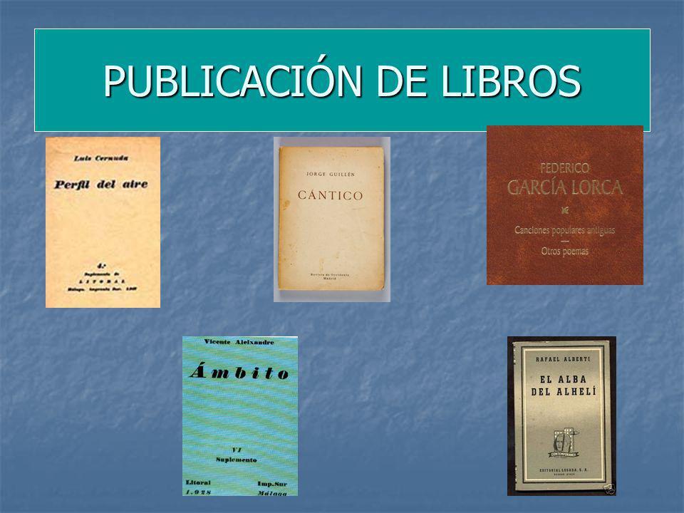 PUBLICACIÓN DE LIBROS