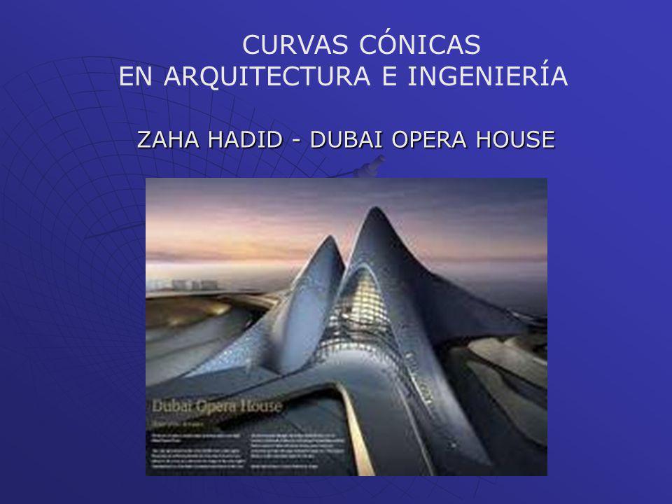 ZAHA HADID - DUBAI OPERA HOUSE CURVAS CÓNICAS EN ARQUITECTURA E INGENIERÍA