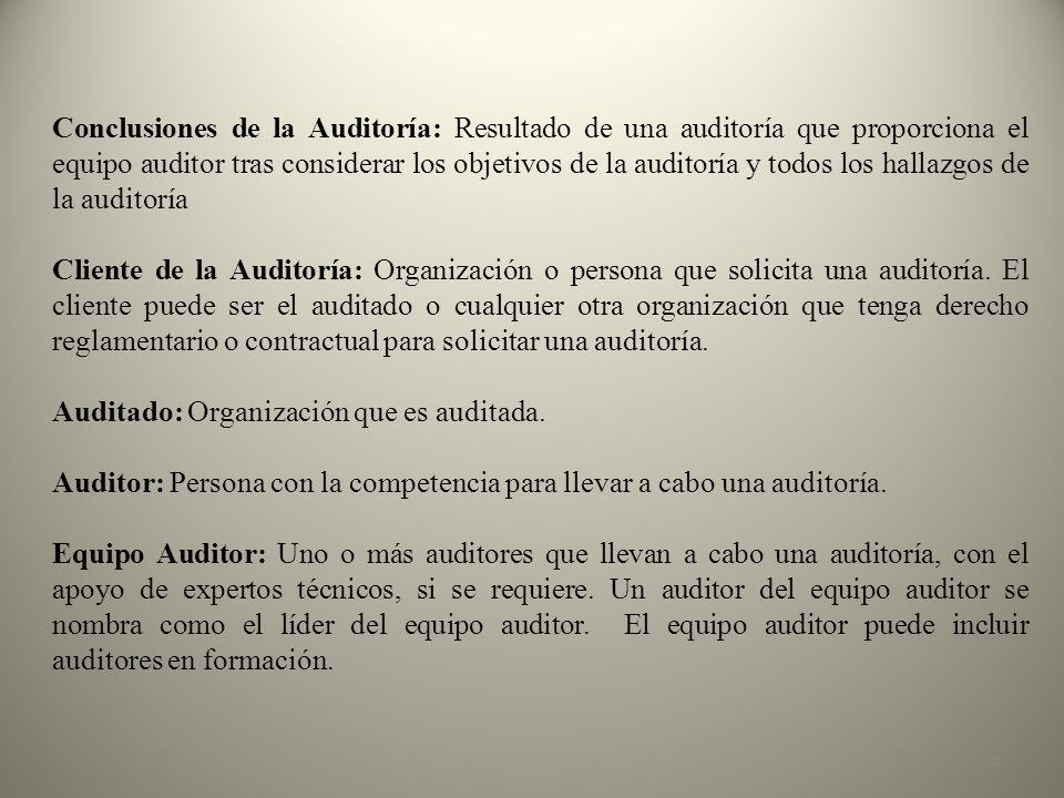 35 El objetivo es la razón por la cual se realiza la Auditoría Ambiental.