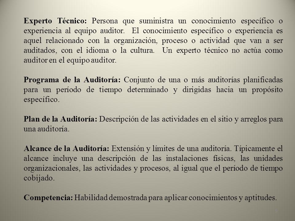 Características los integrantes del equipo auditor : Ser profesional Dominio de la metodología a utilizar Habilidad numérica.