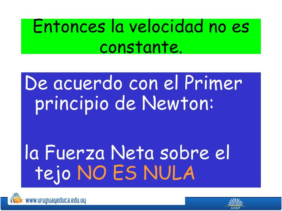 Con el segundo principio de Newton podemos relacionar la Fuerza neta con la aceleración: