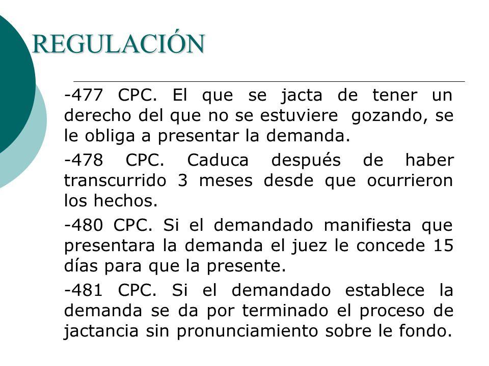 REGULACIÓN -477 CPC.