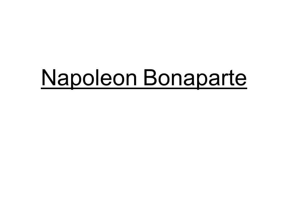 Napoleon: dos aspectos importantes Fue un hombre extraordinario, con mucho carisma y mucho ingenio militar.