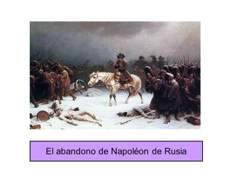 El abandono de Napoléon de Rusia