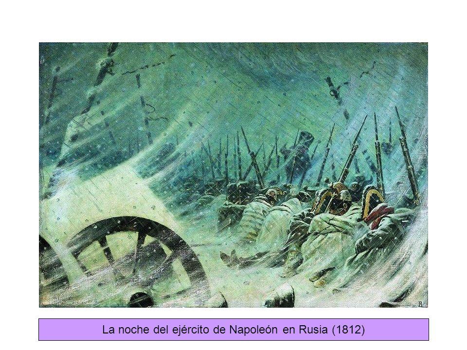 La noche del ejército de Napoleón en Rusia (1812)