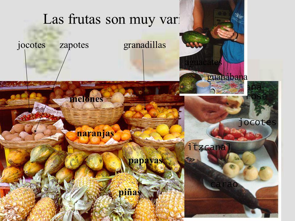 También hay otras frutas exóticas como los marañones y las paternas.