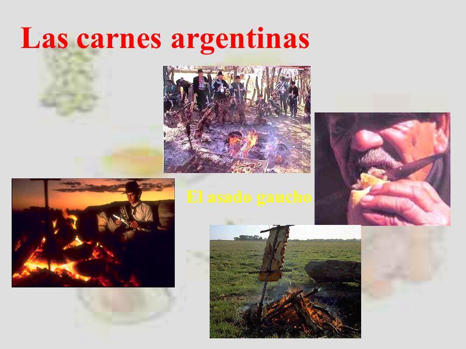 El asado gaucho Las carnes argentinas