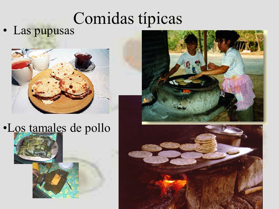 Comidas típicas Las pupusas Los tamales de pollo
