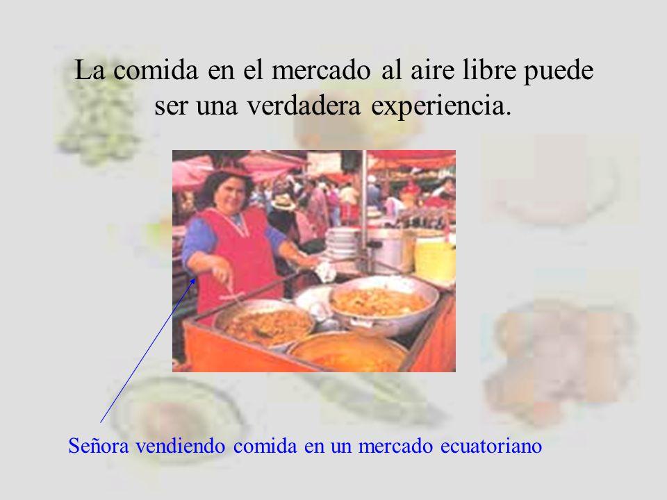 La comida en el mercado al aire libre puede ser una verdadera experiencia.