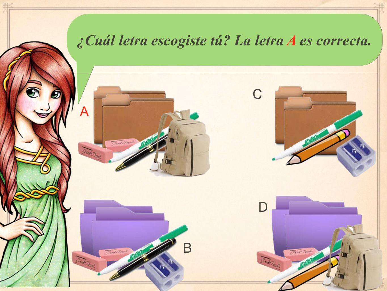 You should have written: Coral necesita tres lápices, un cuaderno, y una carpeta.