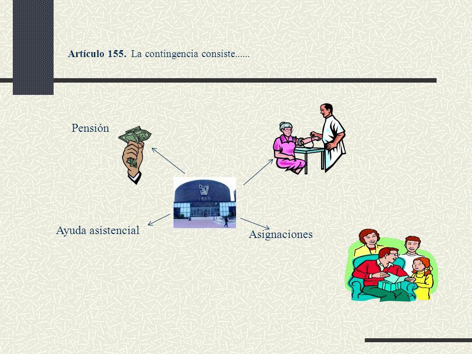 Artículo 155. La contingencia consiste...... Ayuda asistencial Asignaciones Pensión