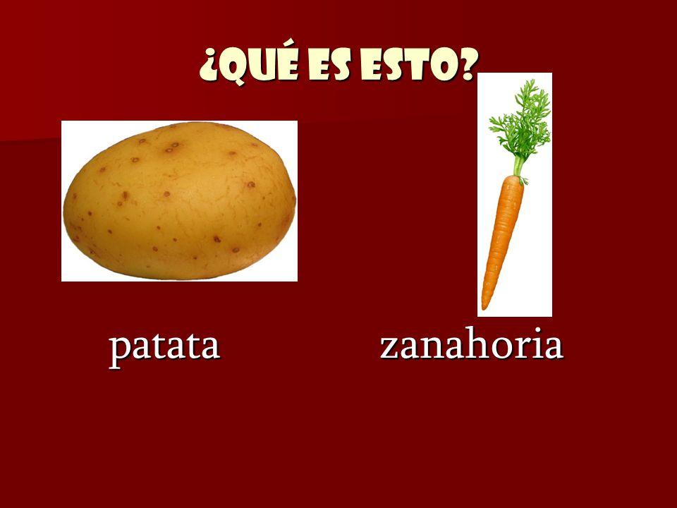 ¿Qué es esto? patata zanahoria patata zanahoria