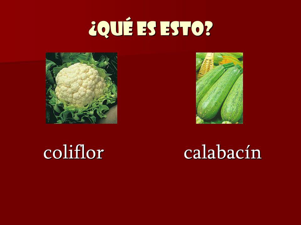¿Qué es esto? coliflor calabacín coliflor calabacín