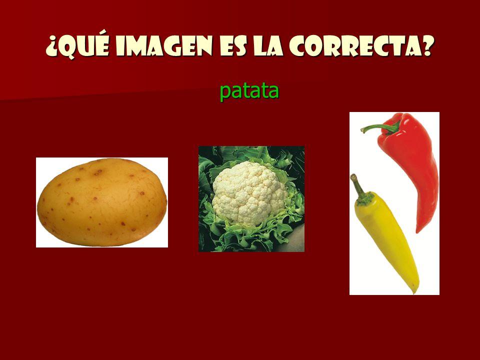 ¿Qué imagen es la correcta? patata