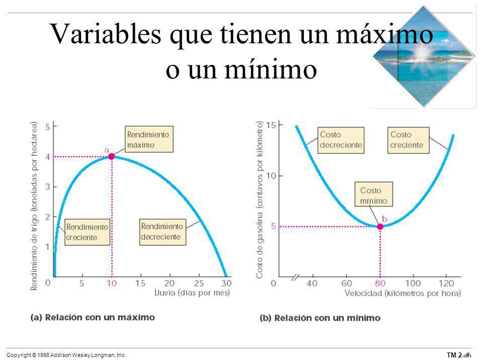 TM 2-20 Copyright © 1998 Addison Wesley Longman, Inc. Variables que tienen un máximo o un mínimo