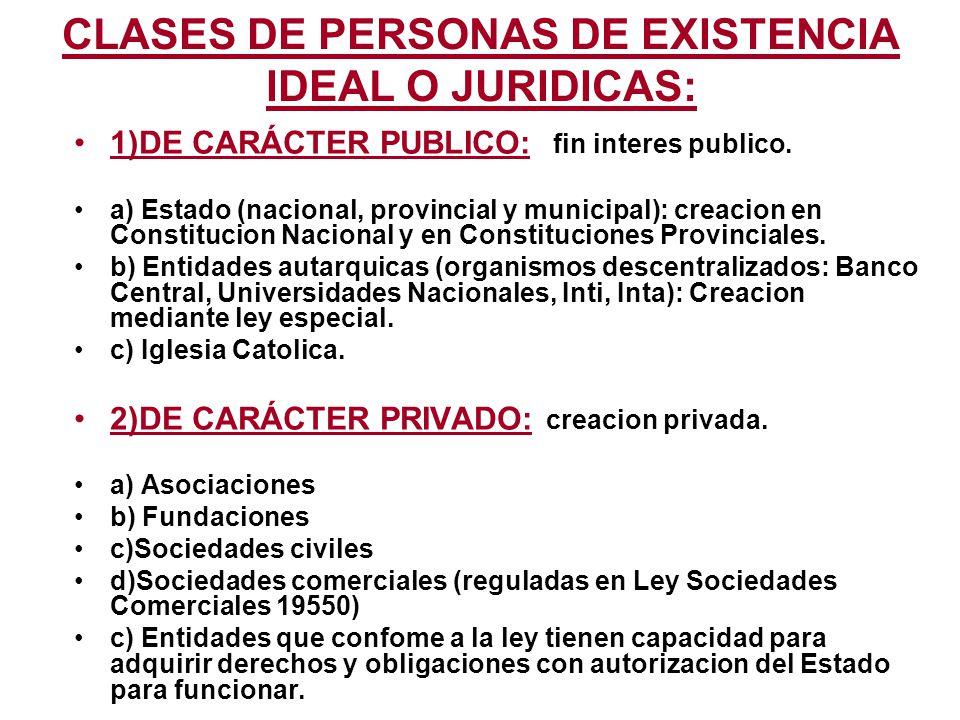 1)PRINCIPIO EXISTENCIA PERSONAS JURIDICAS: Depende del tipo de persona juridica.