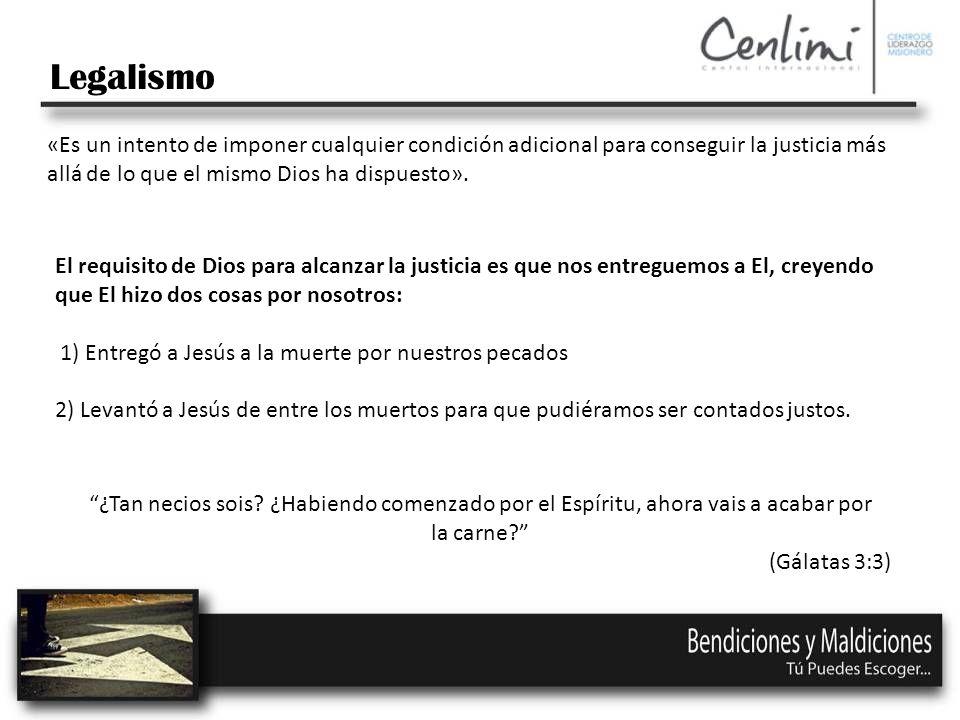 «Es un intento de imponer cualquier condición adicional para conseguir la justicia más allá de lo que el mismo Dios ha dispuesto».