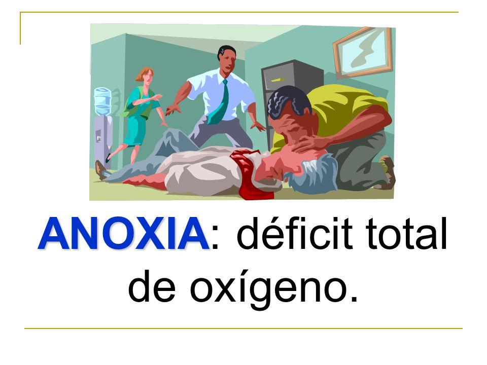 TIPOS DE ANOXIA: ANOXIA ANOXICA ANOXIA ANOXICA. Resulta de una deficiente oxigenación de la sangre.